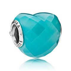 Bead Blue shape of Love