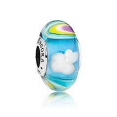 Glas Bead Iridescent Rainbow