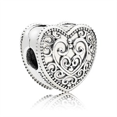 Clip Bead Enchanted Heart 925er Silber