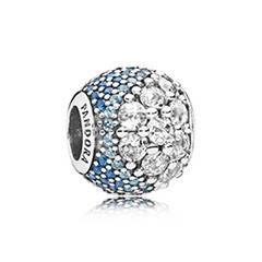 Bead Blue Enchanted Pavé 925er Silber Zirkonia