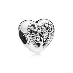 Bead Flourishing Hearts 925er Silber