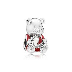 Sterlingsilber Charm Christmas Bear