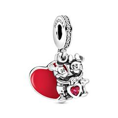 Disney Charm Mickey and Minnie with Love Sterlingsilber