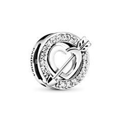 Reflexions Charm Asymmetric Heart Arrow 925er Silber
