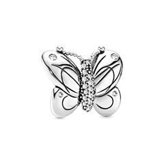 Charm Butterfly aus Sterlingsilber mit Zirkonia