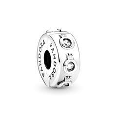 925er Silber Clip Charm Sparkling O mit Zirkonia
