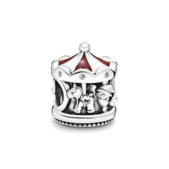 Charm Weihnachtskarussel aus 925er Silber mit Zirkonia