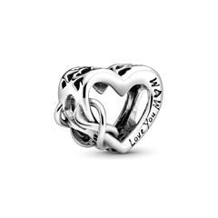 Herz Charm Love You Mum aus 925er Silber