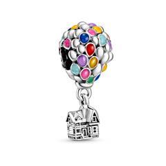 Disney Charm Ballon Haus aus Sterlingsilber