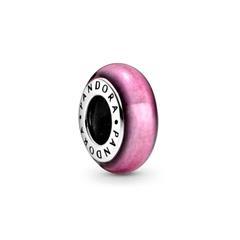 Zwischelement aus 925er Silber und rosa Emaille