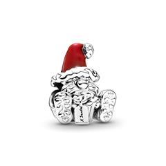 Charm Weihnachtsmann aus Sterlingsilber