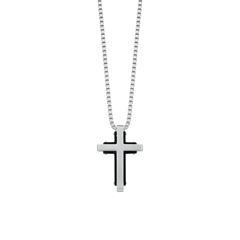 Kreuzkette für Herren aus Edelstahl