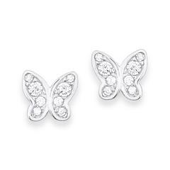 Ohrstecker Schmetterlinge für Mädchen aus 925er Silber