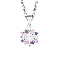 Schmetterlingskette für Mädchen aus 925er Silber