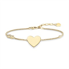 Herzarmband aus 925er Silber vergoldet