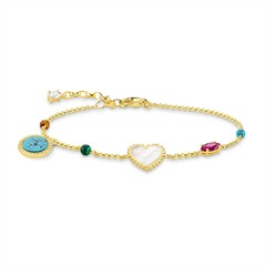 Armband Riviera Colours 925er Silber gold