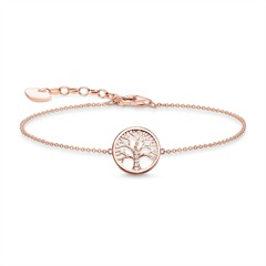 925er Silber Armband Tree Of Love Rosé mit Zirkonia