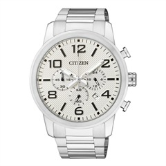 Citizen Basic Herrenuhr Chrono silber AN8050-51A