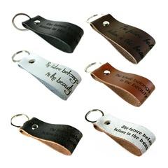 Echtleder Schlüsselanhänger inkl. Außengravur