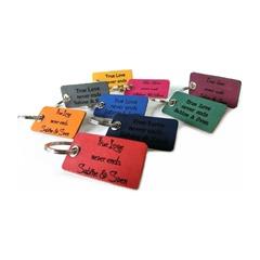 Schlüsselanhänger Leder inklusive Lasergravur