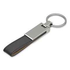 Schlüsselanhänger Leder schwarz personalisierbar