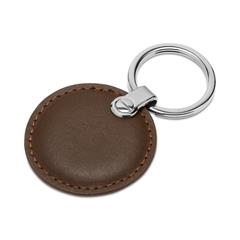 Schlüsselanhänger Leder Braun Gravur