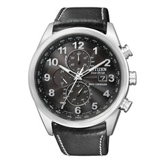 Citizen Leder Elegant Chronograph schwarz AT8011-04E