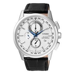 Elegant Herren Chronograph Leder