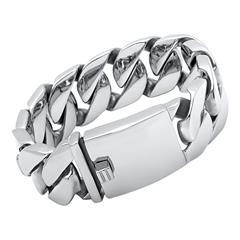 Massives Armband aus Edelstahl
