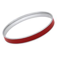 Roter Edelstahlarmreif in 8mm Breite