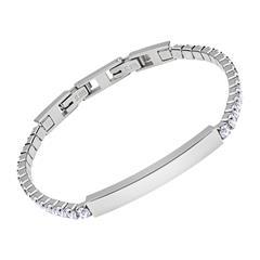 Damen Edelstahl Armband Zirkonia Steine