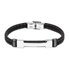 Armband aus schwarzem Kautschuk gravierbar