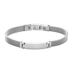 Mesh Armband aus Edelstahl, gravierbar