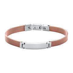 Gravierbares Mesh Armband aus Edelstahl, rosé
