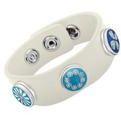 Modernes Armband Button weiß