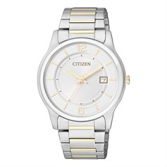Citizen Basic Herrenuhr gold silber BD0024-53A