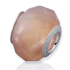 Bead aus Achat mit 925 Silber Fassung