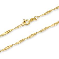 585er Goldkette: Singapurkette Gold 45cm