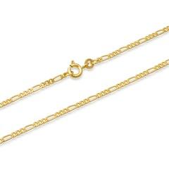 585er Goldkette: Figarokette Gold 55cm