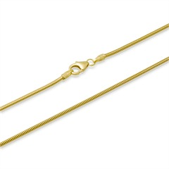 585er Goldkette: Schlangenkette Gold 45cm
