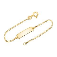 585er Goldarmband: ID-Armband Gold 14cm