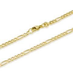 333er Goldarmband: Figaroarmband Gold 19cm