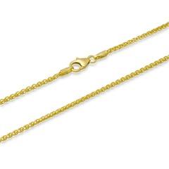 585er Goldarmband: Zopfarmband Gold 18,5cm