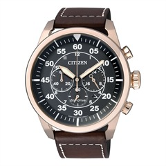 Citizen Sports Chrono Lederarmband Herren CA4213-00E