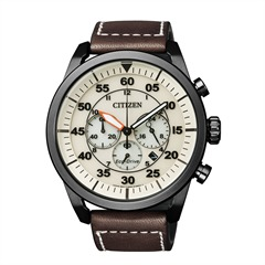 Citizen Sports Chrono Uhr Herren Leder braun CA4215-04W