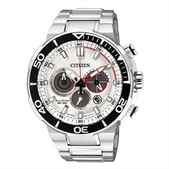 Sports Chronograph silber Eco-Drive