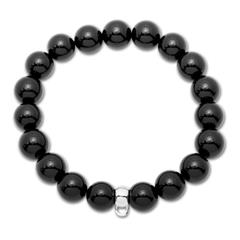 Onyx Perlenarmband für Charms dehnbar 18-23cm