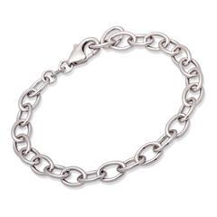 925 Silber Ankerarmband für Charms 19cm