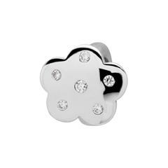 925 Silber Clip Charm mit Zirkonia
