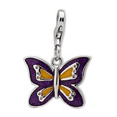 Schmetterling Silber Charm für Bettelarmbänder